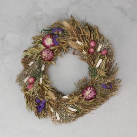 Corona de flores secas de 22cm
